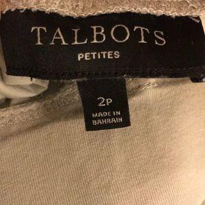 Tan Ladies Talbots pants 100% cotton size 2P